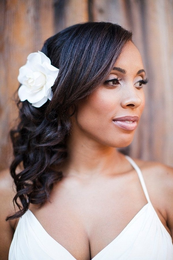 Wedding Hairstyles For Black Women, African American Wedding Haircuts For Wedding Hairstyles For Black Girl (View 14 of 15)