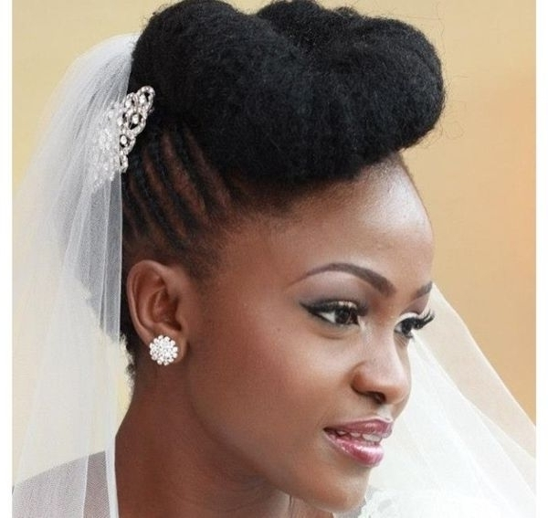 Wedding Hairstyles For Black Women African American Wedding Haircuts Inside Wedding Hairstyles For Natural Hair (View 8 of 15)