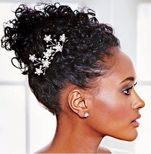 Wedding Hairstyles For Black Women, African American Wedding Haircuts Pertaining To Wedding Hairstyles For Natural Kinky Hair (View 12 of 15)