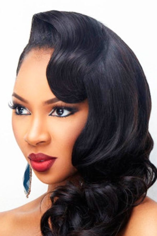 Wedding Hairstyles For Black Women, African American Wedding Haircuts Regarding Wedding Hairstyles For Long Hair African American (View 12 of 15)