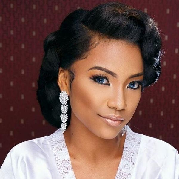 Wedding Hairstyles For Black Women Wedding Hairstyles For Black With Wedding Hairstyles For Black Girl (View 13 of 15)
