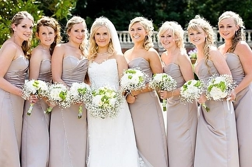 Wedding Hairstyles For Bridesmaids With Medium Length Hair Within Wedding Hairstyles For Medium Length Straight Hair (View 15 of 15)