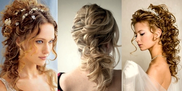 Wedding Hairstyles For Curly Hair! – The Haircut Web Throughout Wedding Hairstyles For Curly Hair (View 14 of 15)