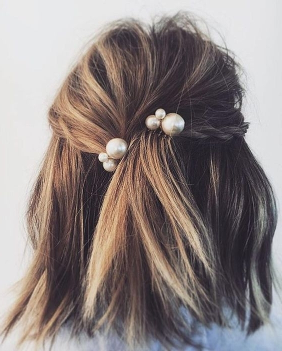 Wedding Hairstyles For Every Hair Type | A Practical Wedding With Regard To Wedding Hairstyles For Short Brown Hair (View 12 of 15)