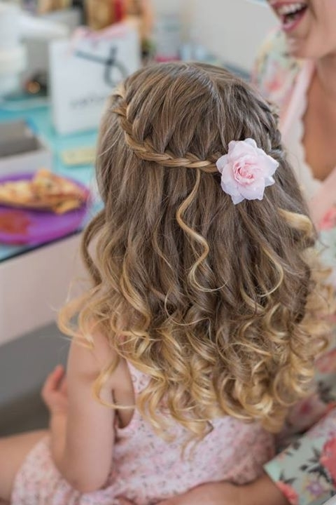 Wedding Hairstyles For Flower Girls 25 Unique Flower Girl Hairstyles Within Wedding Hairstyles For Girls (View 15 of 15)