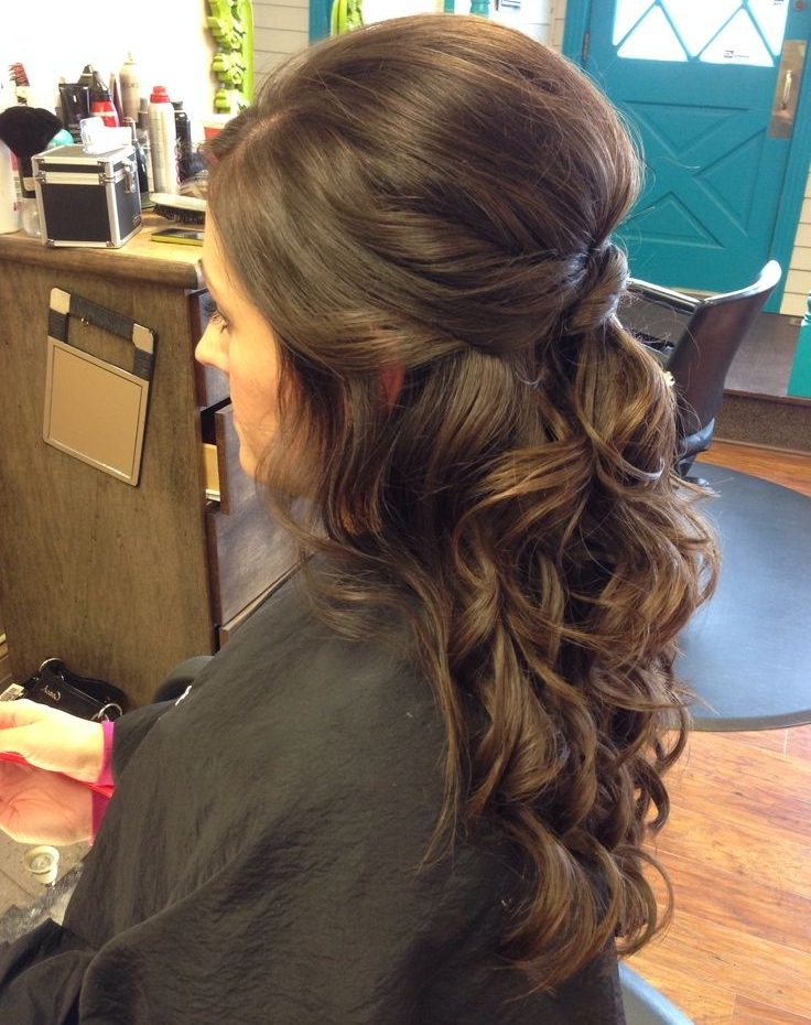 Wedding Hairstyles For Heavy Long Hair | Styles Time Throughout Wedding Hairstyles For Long Brown Hair (View 12 of 15)