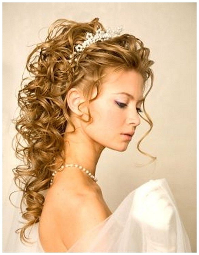 Wedding Hairstyles For Long Curly Hair With Veil | Wedding Ideas Throughout Wedding Hairstyles For Long Curly Hair With Veil (View 3 of 15)