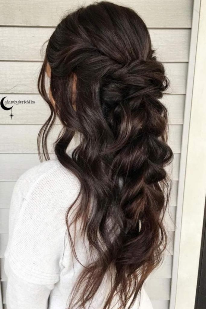 Wedding Hairstyles For Long Dark Brown Hair | Female Hairstyle Pertaining To Wedding Hairstyles For Long Dark Hair (View 11 of 15)