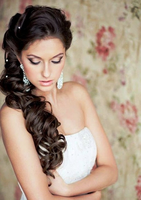 Wedding Hairstyles For Long Hair 2014 | Ideal Weddings With Down To The Side Wedding Hairstyles (View 14 of 15)