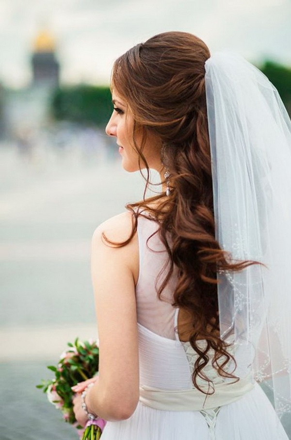 Wedding Hairstyles For Long Hair: 30 Most Fabulous Inspirations Intended For Wedding Hairstyles For Long Hair Half Up With Veil (View 14 of 15)