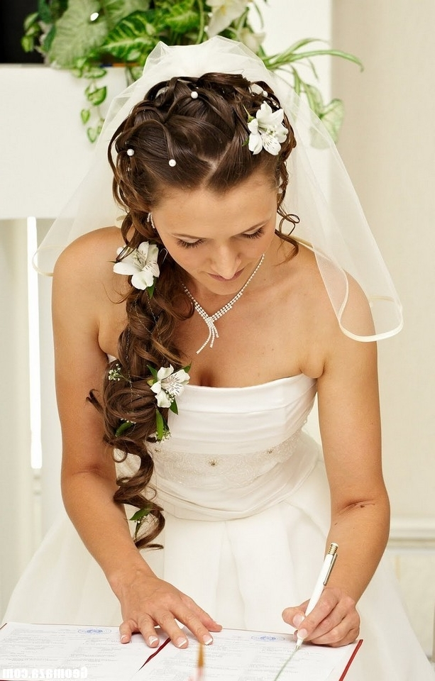 Wedding Hairstyles For Long Hair And Strapless Dress Hairstyles Blog Pertaining To Wedding Hairstyles For Long Hair And Strapless Dress (View 14 of 15)
