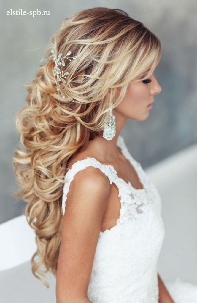 Wedding Hairstyles For Long Hair Down Curly Luxury Wedding Hairstyle Pertaining To Wedding Hairstyles For Long Down Curls Hair (View 8 of 15)