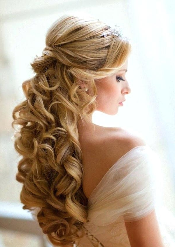 Wedding Hairstyles For Long Hair Down Unique Wedding Hairstyles Long Regarding Wedding Hairstyles For Long Down Curls Hair (View 9 of 15)