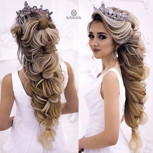 Wedding Hairstyles For Long Hair – Evesteps Within Wedding Hairstyles For Very Long Hair (View 11 of 15)