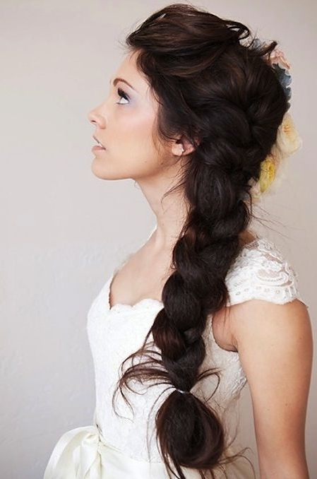 Wedding Hairstyles For Long Hair – Long Side Braid For Brides (View 10 of 15)