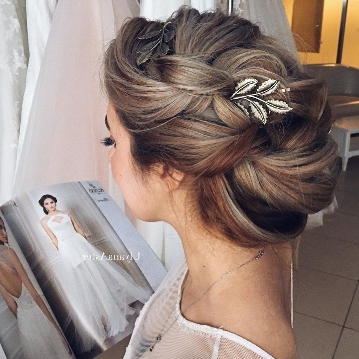 Wedding Hairstyles For Long Hair | Pinterest | Messy Buns, Bridal With Messy Bun Wedding Hairstyles (View 8 of 15)
