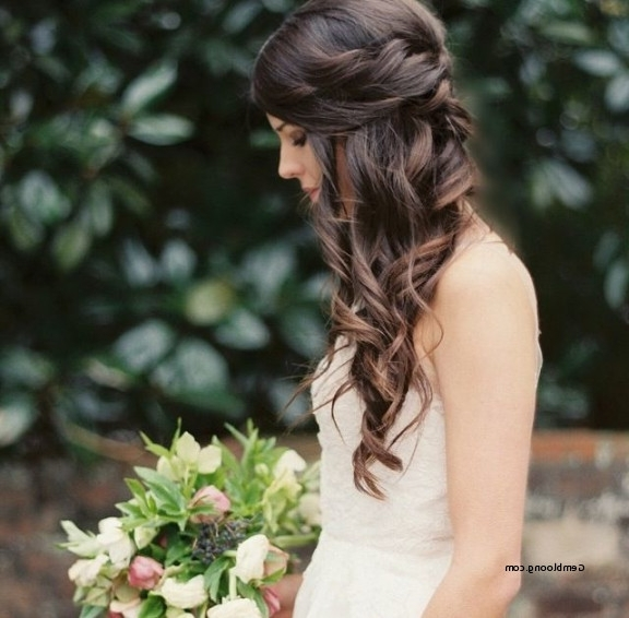 Wedding Hairstyles For Long Hair Pulled To The Side New Love This Intended For Wedding Hairstyles For Long Hair Pulled To The Side (View 6 of 15)