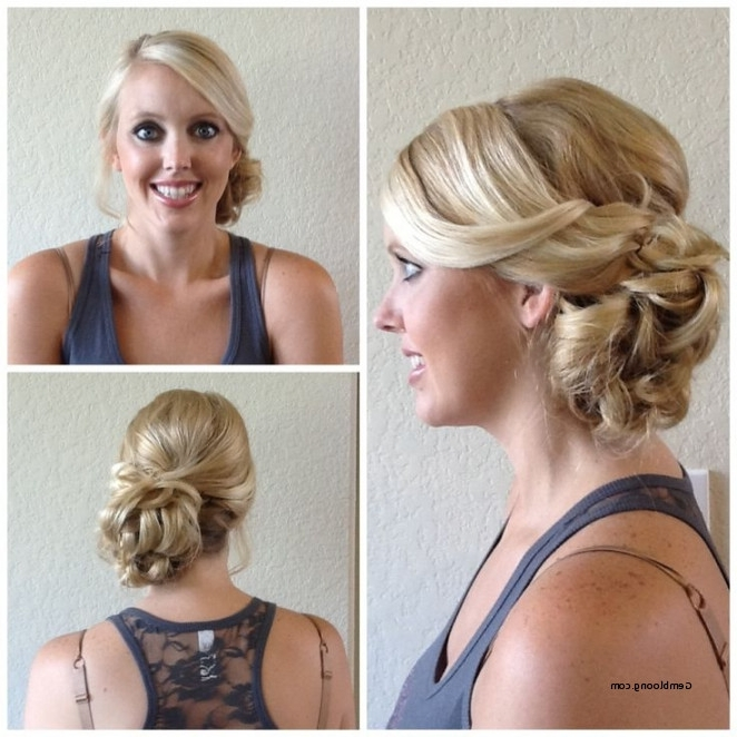 Wedding Hairstyles For Long Hair To The Side Bun Elegant Wedding For Wedding Hairstyles For Long Hair With Side Bun (View 14 of 15)