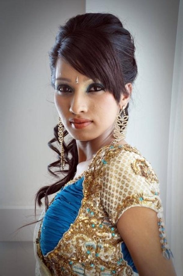 Wedding Hairstyles For Long Hair Tumblr For Easy Indian Wedding Hairstyles For Medium Length Hair (View 14 of 15)