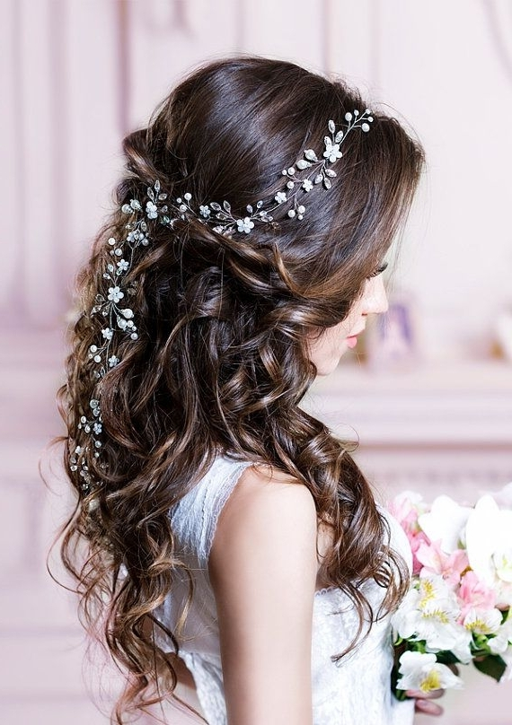 Wedding Hairstyles For Long Hair With Flowers Best 25 Bridal Hair Regarding Long Wedding Hairstyles With Flowers In Hair (View 13 of 15)