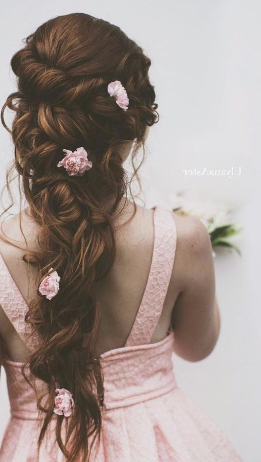 Wedding Hairstyles For Long Hair With Flowers Bridal Hairstyles For Within Wedding Hairstyles With Flowers (View 12 of 15)