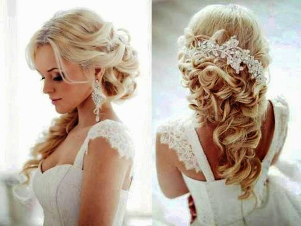 Wedding Hairstyles For Long Hair With Flowers Wedding Hairstyles For Pertaining To Long Wedding Hairstyles With Flowers In Hair (View 14 of 15)