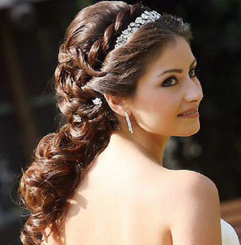 Wedding Hairstyles For Long Hair With Headband Natural Bridal In Grecian Wedding Hairstyles For Long Hair (View 12 of 15)