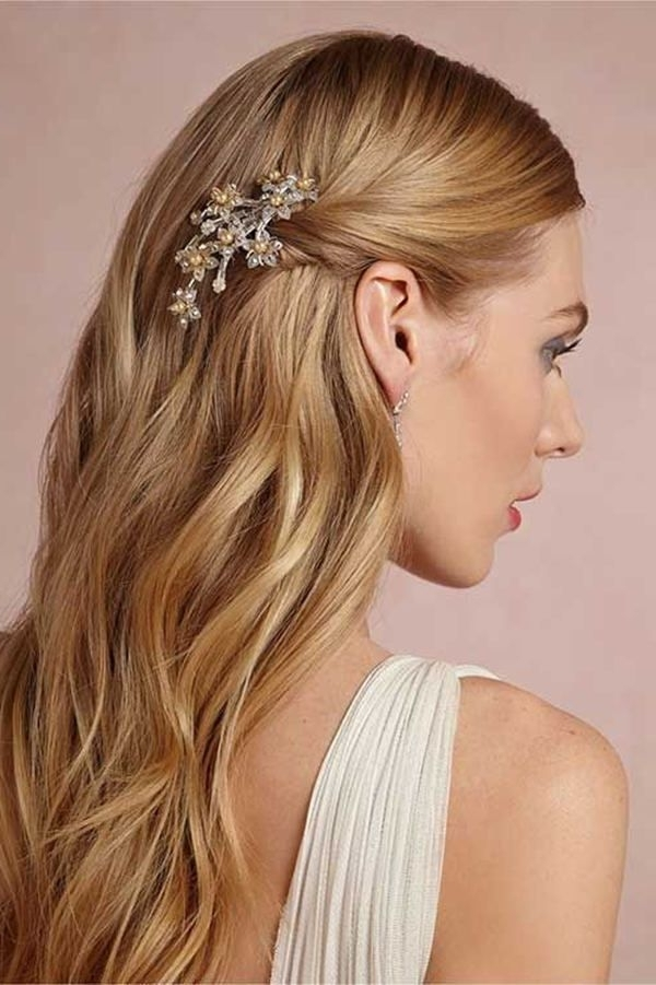 Wedding Hairstyles For Long Straight Hair Down Best 25 Straight Pertaining To Down Straight Wedding Hairstyles (View 13 of 15)
