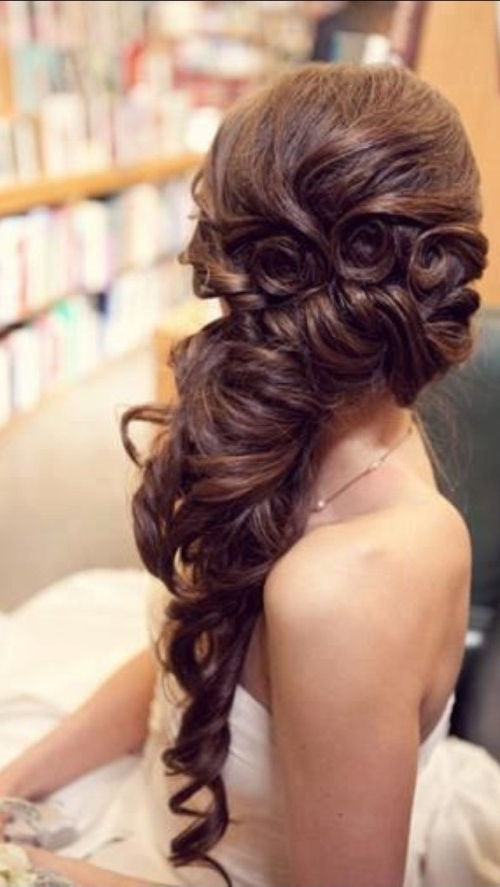 Wedding Hairstyles For Long Thick Hair Fun Cute Hairstyles For Thick Within Wedding Hairstyles For Long Thick Hair (View 6 of 15)