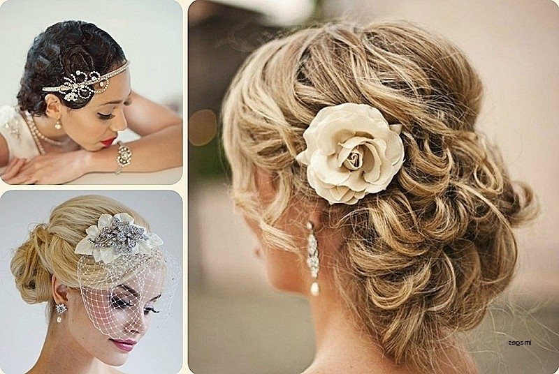 Wedding Hairstyles For Medium Length Curly Hair Best Of Wedding In Bridal Hairstyles For Medium Length Curly Hair (View 12 of 15)