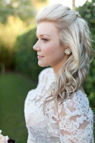 Wedding Hairstyles For Medium Length Hair Half Up Half Down And You Inside Wedding Hairstyles Down For Medium Length Hair (View 10 of 15)