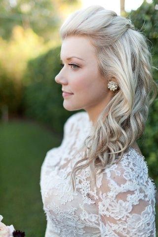 Wedding Hairstyles For Medium Length Hair Half Up Half Down And You Regarding Down Wedding Hairstyles For Shoulder Length Hair (View 11 of 15)