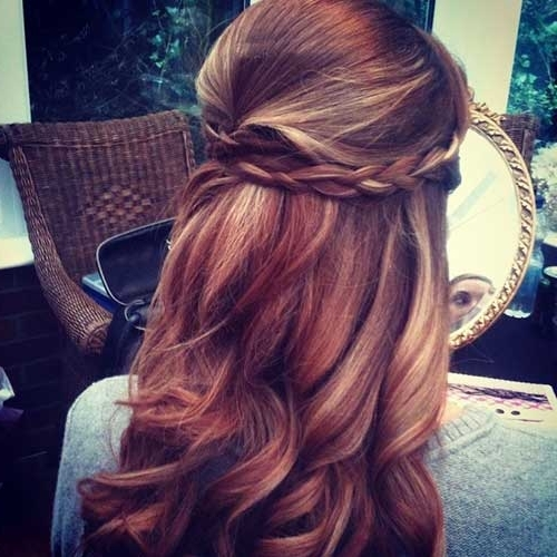 Wedding Hairstyles For Medium Length Hair Half Up Half Down Regarding Down Medium Hair Wedding Hairstyles (View 10 of 15)