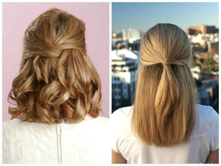 Wedding Hairstyles For Medium Length Hair Half Up To Half Up Half In Half Up Half Down Wedding Hairstyles For Medium Length Hair (View 11 of 15)
