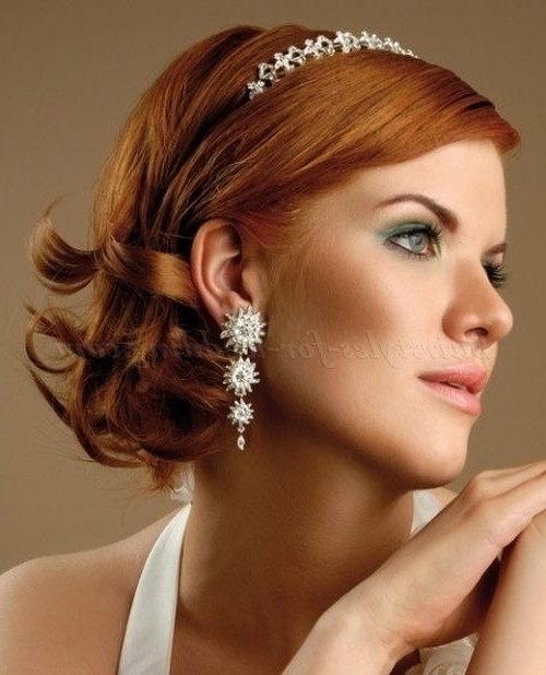 Wedding Hairstyles For Medium Length Hair – Medium Length Bridal Pertaining To Wedding Hairstyles For Shoulder Length Hair With Fringe (View 13 of 15)