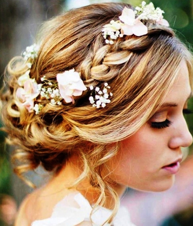 Wedding Hairstyles For Medium Length Hair Updos – Some Inspirations Within Bridal Updo Hairstyles For Medium Length Hair (View 11 of 15)