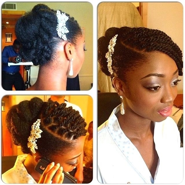 Wedding Hairstyles For Natural Black Hair – Wigodelivery Throughout Wedding Hairstyles For Natural Black Hair (View 7 of 15)