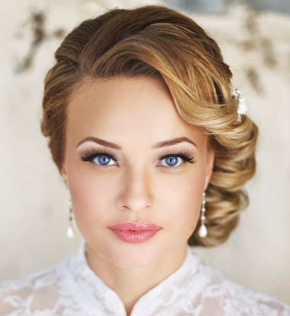 Wedding Hairstyles For Short Hair 2017 Pertaining To Elegant Wedding Hairstyles For Short Hair (View 13 of 15)