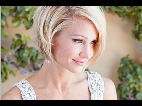 Wedding Hairstyles For Short Hair Bob – Youtube For Wedding Bob Hairstyles For Short Hair (View 12 of 15)