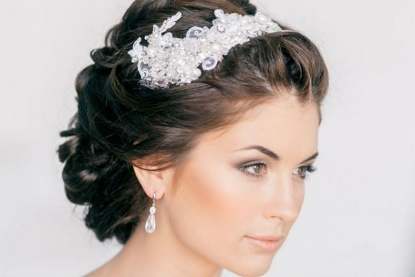 Wedding Hairstyles For Short Hair | Bridal Hairstyles For Short Hair Inside Wedding Hairstyles For Short Hair With Tiara (View 15 of 15)