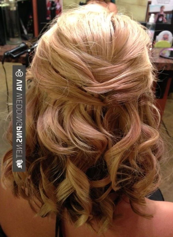 Wedding Hairstyles For Short Hair Bridal Updo For Short Or Medium Intended For Wedding Dinner Hairstyle For Short Hair (View 7 of 15)