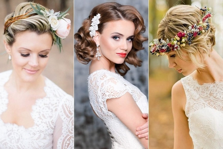 Wedding Hairstyles For Short Hair Brides Tying The Knot This Winter Pertaining To Knot Wedding Hairstyles (View 9 of 15)