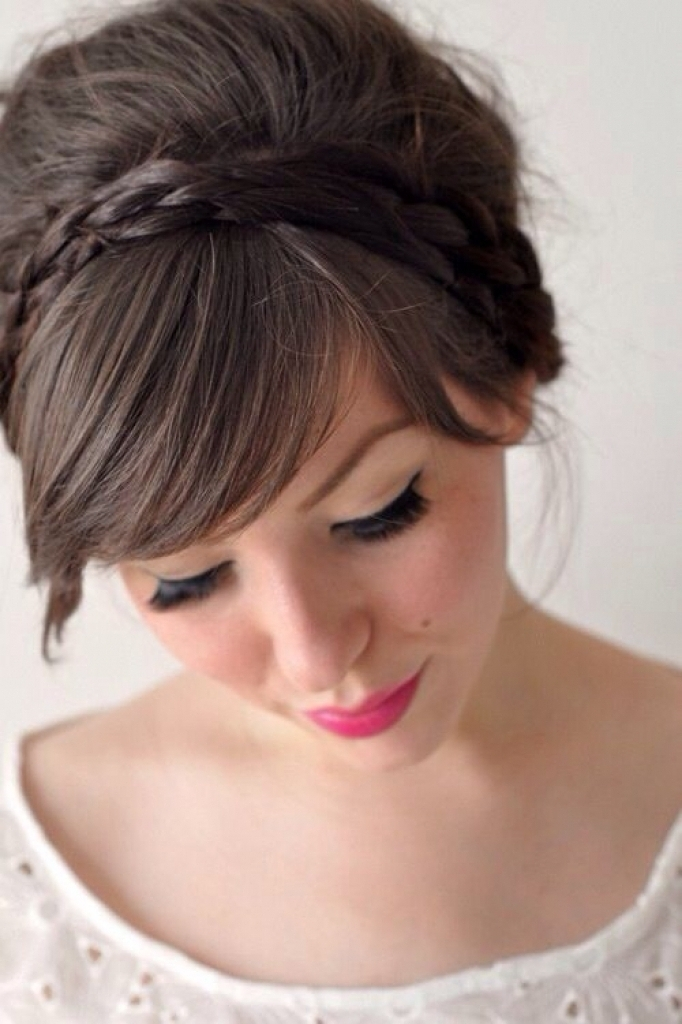 Wedding Hairstyles For Short Hair With Fringe Best 25 Wedding Bangs In Wedding Hairstyles For Short Hair With Fringe (View 14 of 15)