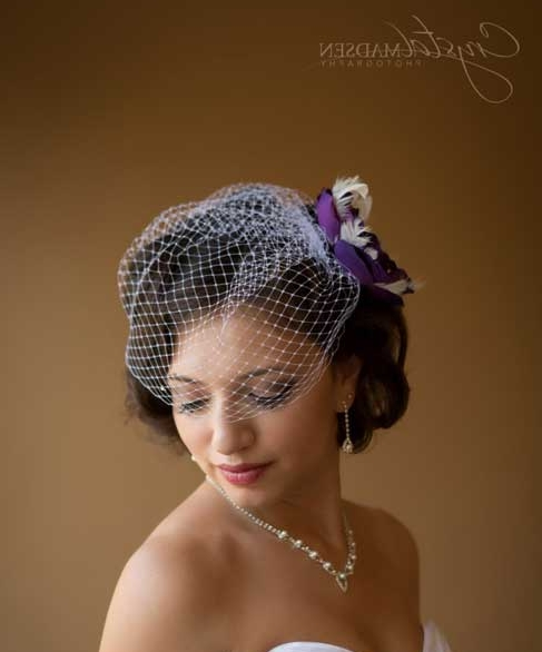 Featured Photo of Wedding Hairstyles For Short Hair With Birdcage Veil