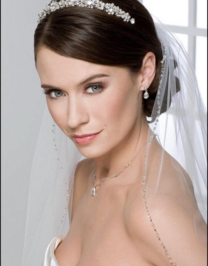 Wedding Hairstyles For Short Hair With Tiara And Veil – Hairstyle With Regard To Bridal Hairstyles For Short Length Hair With Veil (View 13 of 15)