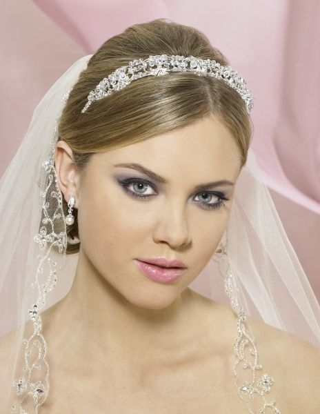 Wedding Hairstyles For Short Hair With Tiara And Veil | Wedding Intended For Bridal Hairstyles For Short Length Hair With Veil (View 14 of 15)