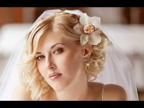 Wedding Hairstyles For Short Hair With Tiara And Veil – Youtube Throughout Wedding Hairstyles For Short Hair With Veil (View 4 of 15)