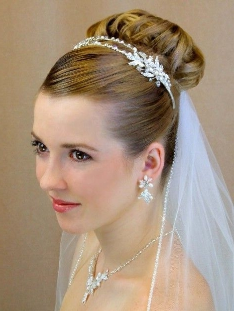 Featured Photo of Wedding Hairstyles For Short Hair With Veil And Tiara