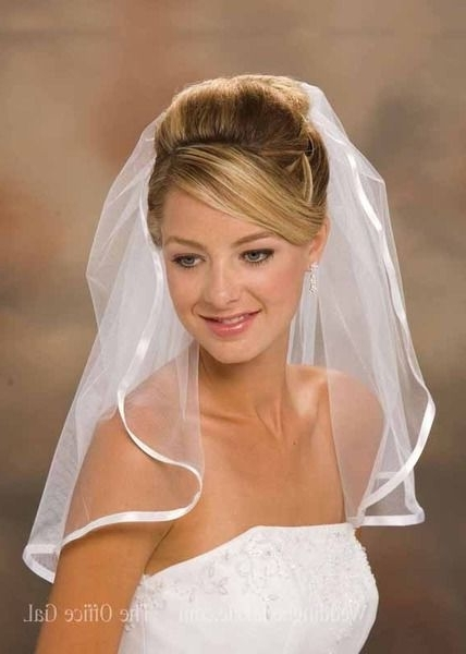 Wedding Hairstyles For Short Hair With Veil New – Countrythinker For Wedding Hairstyles For Short Hair And Veil (View 10 of 15)