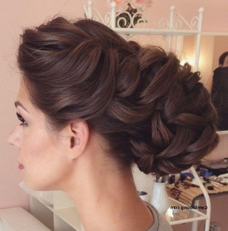 Wedding Hairstyles For Thick Hair Beautiful Wedding Hairstyles For Intended For Wedding Hairstyles For Thick Hair (View 11 of 15)